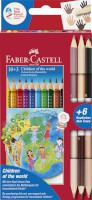Farbstift Charity Set, 13 Stifte inkl. 6 Hautfarben