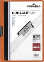 Klemm-Mappe DURACLIP® Original 30, Hartfolie, bis 30 Blatt, transparent/orange